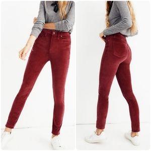 Madewell | High Rise Stretch Velvet Skinny Jeans